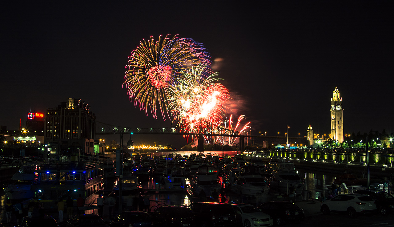 Photo: Fireworks over the Old Port