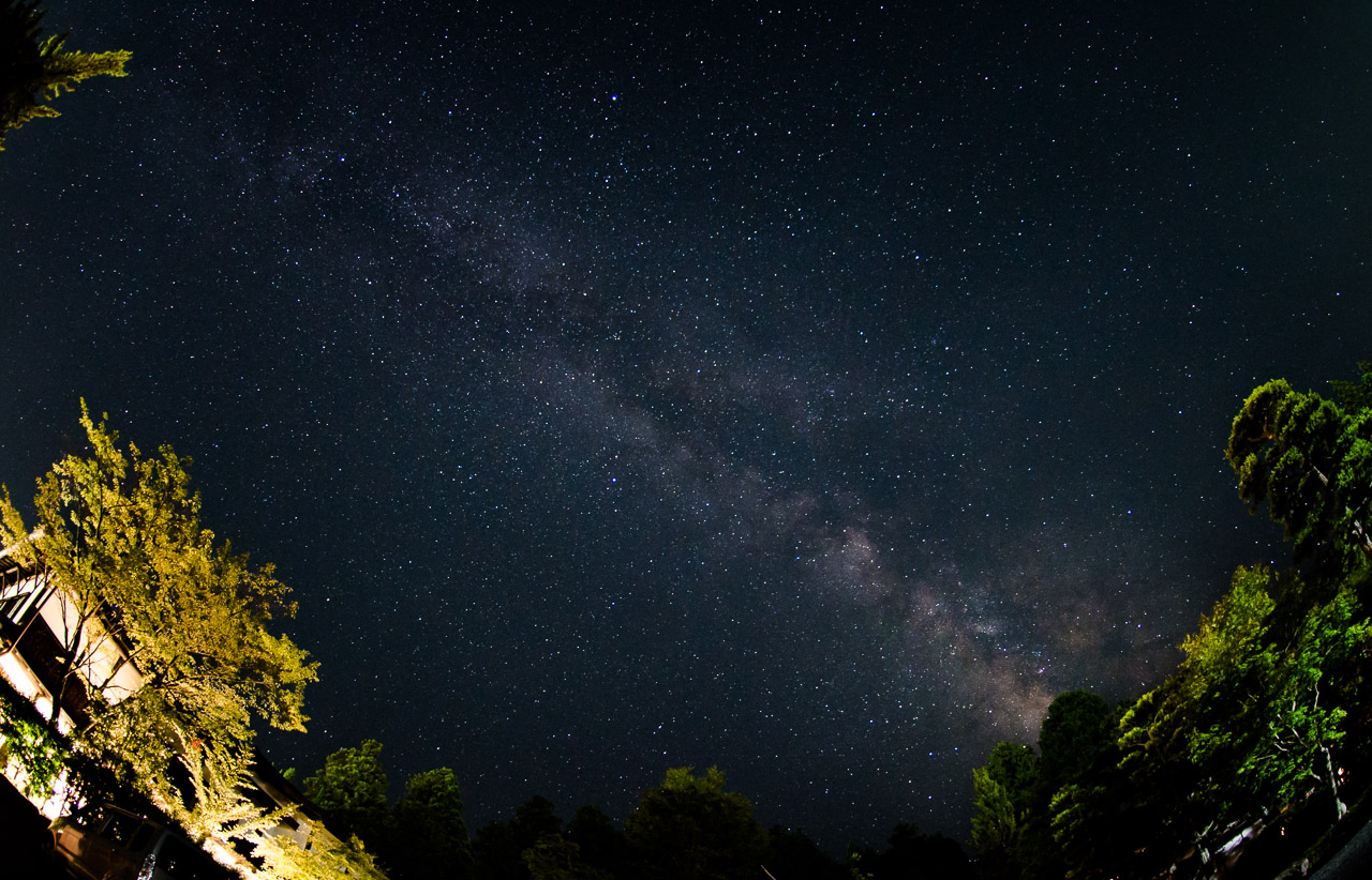 Photo: The Milky Way from Kōya-san
